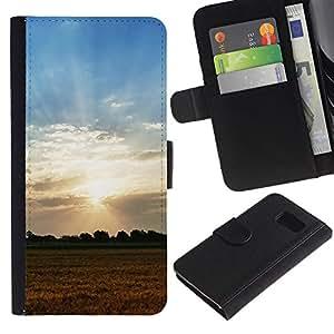 All Phone Most Case / Oferta Especial Cáscara Funda de cuero Monedero Cubierta de proteccion Caso / Wallet Case for Sony Xperia Z3 Compact // Nature Field Sunset