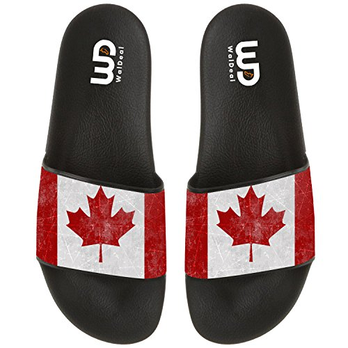 Canada Maple Leave Flag Summer Slide Slippers For Men Women Outdoor Comfort Non-slip Casual Sandals Shoes