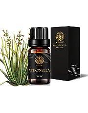 Aromatherapy Essential Oil Citronella, 100% Pure Citronella Scent Essential Oil for Diffuser, Humidifier, Massage, Therapeutic Grade Citronella Aromatherapy Essential Oil Fragrance 0.33 oz - 10ml