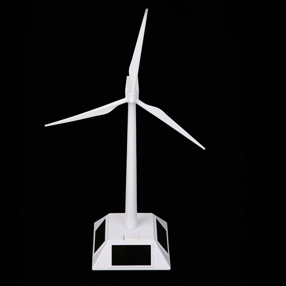 TATEELY DIY Solar Windmill Model Wind Turbine Toys Plastic Assembled 3D Puzzle Assembling Solar Powered Windmill Gift for Kids Home Decor