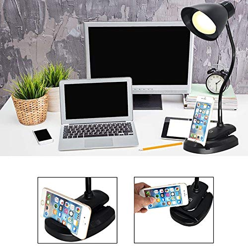 Vnlig Table Lamp Simple Casual LED Seat Clip Dual-use USB Interface Touch Switch Control Lighting Desktop Reading Light by Vnlig (Image #3)