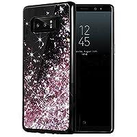 Estuche para Galaxy Note 8, Caka Estuche con brillo para Galaxy Note 8 [Serie Starry Night] Estuche de parachoques de TPU con brillo para lirios y brillos con brillo de lujo de Bling de lujo para Samsung Galaxy Note 8 - (oro rosa)