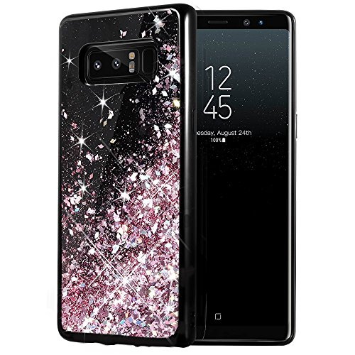 Caka Galaxy Note 8 Case, Galaxy Note 8 Glitter Case Starry Night Series Luxury Fashion Bling Flowing Liquid Floating Sparkle Glitter Girly Soft TPU Case for Samsung Galaxy Note 8 ()