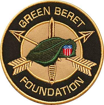 Green Berets Military Hook Loop Tactics Morale Embroidered Patch