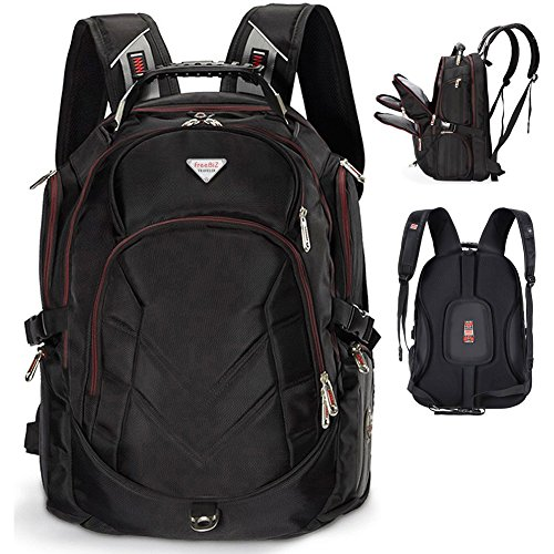 Largest Laptop Backpack - FreeBiz 18.4 Inches Laptop Backpack Fits up to 18 Inch Gaming Laptops for Dell, Asus, Msi,Hp (Black)