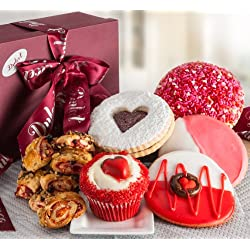Dulcets Valentines Day Cookie & Cupcake Sweet Gift Box