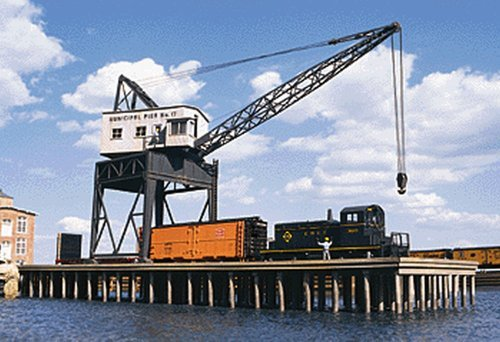 Walters Cornerstone Series Kit Ho Scale Pier and Traveling Crane by Walthers Cornerstone