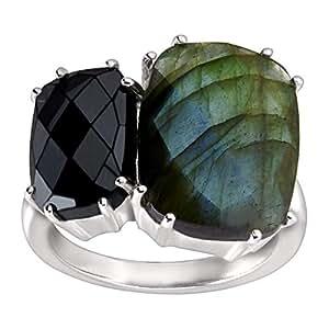 Silpada 'Ebony' Hematite, Labradorite, and Sterling Silver Ring