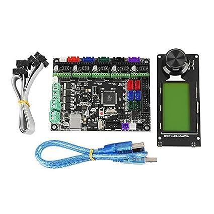 Gaoominy Accesorios de Impresora 3D Mks Gen L+Mini12864 ...