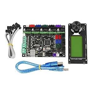 RETYLY Accesorios de Impresora 3D Mks Gen L+Mini12864 ...