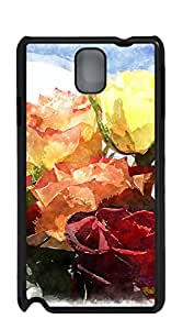TUTU158600 Hard Snap on Phone Case case for samsung galaxy note3 for men - watercolor rose angelic