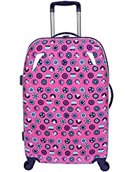 Double Dutch Club Patch Work 25 Inch Hardside, Pink, One Size