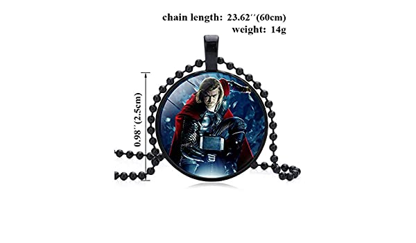 Super Hero Cosplay Necklace Adecuado para Hombres y Mujeres UII Collar Colgante El Logotipo De Los Vengadores
