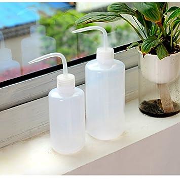 Planta de riego botella limpieza de tatuaje, Dulcii planta suculenta flor doble boca de plástico