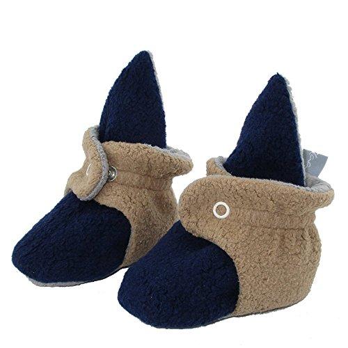 Baby Bootie Babyschuh Krabbelschuh Lauflernschuh Babybooties für Mädchen und Jungen ❤ SmukkeDesign NEU blau camel (6M)