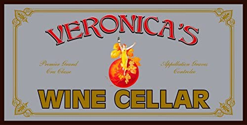 THOUSAND OAKS BARREL Personalized Wine Cellar Bar Mirror