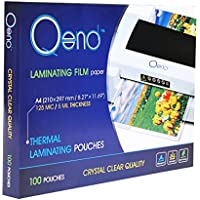 QEND Professional Thermal Laminating Pouches | Heavy Duty 8.6 x 11.9, 5 mil Thick – Crystal Clear Quality and Universal Size – Multipack Value 100 Sheets