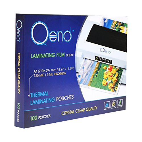 QEND Professional Thermal Laminating Pouches | Heavy Duty 8.6 x 11.9, 5 mil Thick - Crystal Clear Quality and Universal Size - Multipack Value 100 Sheets