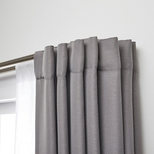 Umbra Twilight Double Rod Set – Wrap Around Design is Ideal for Blackout Room Darkening Curtains, 28 to 48 Inch, Matte Nickel, 48-inch