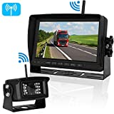 Cheap ZSMJ Digital Wireless High-Speed Observation System for RV/Trucks/Trailer/Camper Backup Camera&Monitor System Rear/Side/Front View Switchable Driving/Reversing IP69K Waterproof Night Vision Camera.