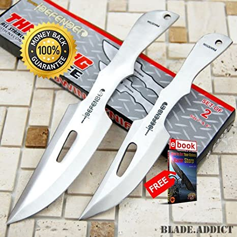 2 Pc 7 6 Ninja Tactical Combat Kunai Knife Set Sheath ...