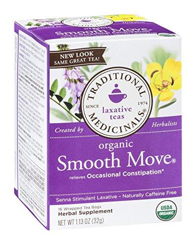 (Traditional Medicinals SMOOTH MOVE Senna Stimulant Laxative Herbal Tea -16bag- 1.13oz (11 Pack))