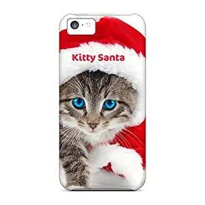 Iphone 5c Cases Slim [ultra Fit] Kitty Santa Protective Cases Covers
