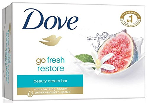 Dove Go Fresh Restore Beauty Bars, Blue Fig and Orange Blossom Scent, 4.75 Oz (Pack of 12) Bar Soap Fresh Fig