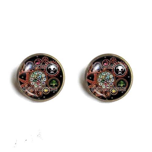 Fashion Jewelry Steampunk Gear Mana Symbol Art Magic The Gathering Necklace Pendant Cosplay MTG Chain