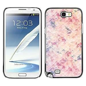 TopCaseStore / la caja del caucho duro de la cubierta de protección de la piel - Shapes Pattern Pastel Colors White - Samsung Galaxy Note 2 N7100