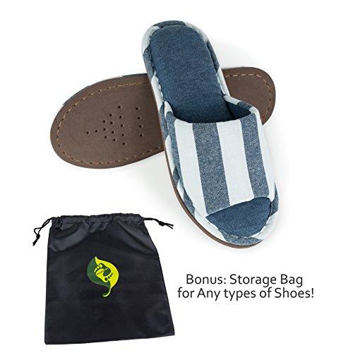 Relaxed Foot Slippers | Indoor & Outdoor Memory Foam | 1 Pair Storage Bag