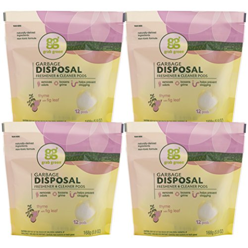 grab-green-natural-garbage-disposal-cleaner-and-freshener-thyme-with-fig-leaf-12-pods-pack-of-4