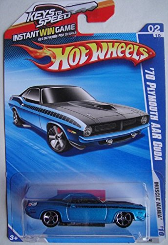 HOT WHEELS 2010 MUSCLE MANIA TEAL '70 PLYMOUTH AAR for sale  Delivered anywhere in USA