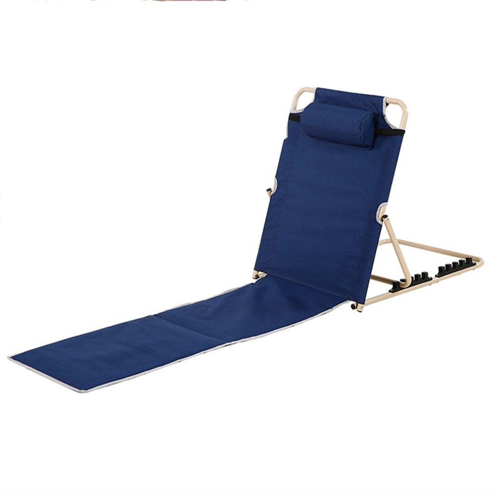 QFFL 多機能ベッド寮の部屋折りたたみ椅子/シンプルな背もたれの椅子/屋外ポータブルリクライナー/リビングルーム寝室の床の椅子/ガーデンラウンジチェア アウトドアスツール (色 : Blue, サイズ さいず : 1#) B07F836W1B  Blue 1#