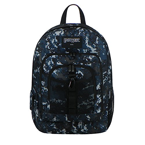 - East West U.S.A BC104 Digital Camouflage Military Sports Backpack, Navy Camo