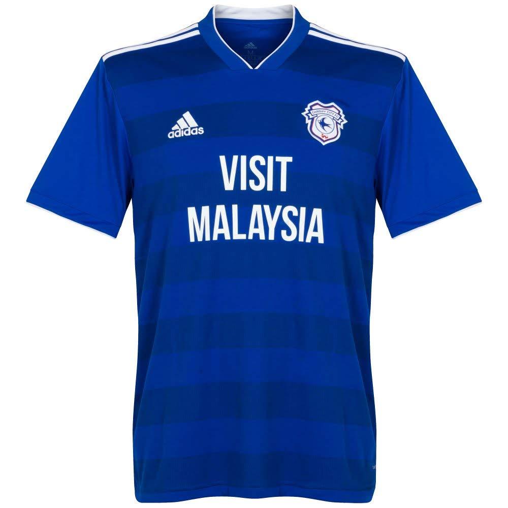 Adidas 2018-2019 Cardiff City Home Football Soccer T-Shirt Trikot