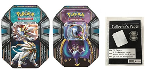 Pokemon-TCG-Legends-of-Alola-Tin-Salgaleo-Lunala-Tins-Plus-Additional-Premium-Bonus-Gift-30x-Ace-Synicate-9-Pocket-Page-Card-Holders
