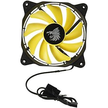 Eagle Warrior 654862208786 Ventilador Halo para Gabinete con Tubo de LED, color Amarillo, 12cm