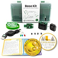 Base Coding Kit allows kids to learn about computer programming and electronics in an all-in-one format. Complete with free online lessons!