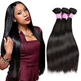 3pcs Cheap Brazilian Straight Human Hair Bundles 7a Unprocessed Virgin Hair Straight Brazilian Hair Weave Bundles (16 18 20)