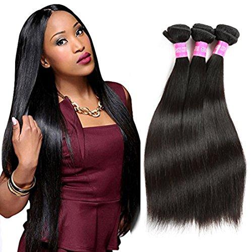 3pcs Cheap Brazilian Straight Human Hair Bundles 7a Unprocessed Virgin Hair Straight Brazilian Hair Weave Bundles (16 18 20)