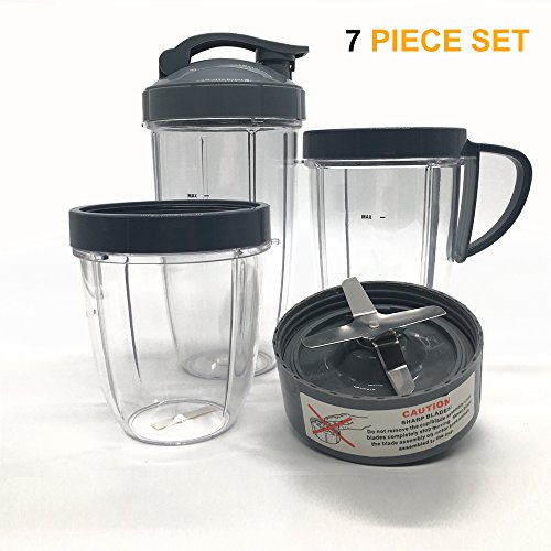 Cup and Blade Set for NutriBullet Replacement High Speed Blender Mixer System,nutribullet 900 series replacement parts (7) by joyparts