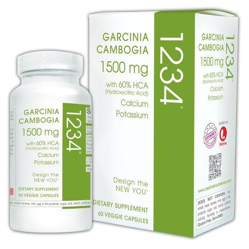 Creative Bioscience Garcinia Cambogia 1234, 60 Veggie Capsules