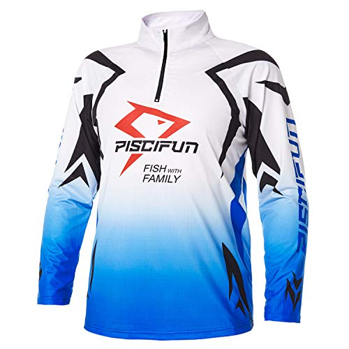 Piscifun Performance UPF Long Sleeve Fishing T-Shirt-Sun Protection Clothing Fishing Jersey L - Sleeve Mens Jersey Long T-shirt