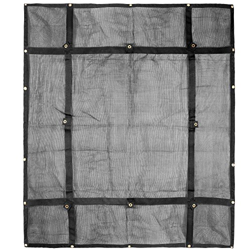 Truck Bed Cargo Net Organizer 6.75'x 8' | Heavy Duty Bungee Webbing, Adjustable & Rip Proof Mesh with Grommet Anchoring Points & Tarp | for Pickup Trucks, Trailers, Vans, Boats & More