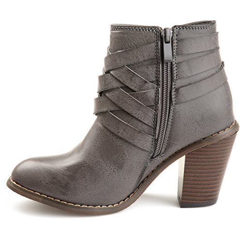 Boot Co Grey Ankle Brinley Buckle Women's n8BOqOz7