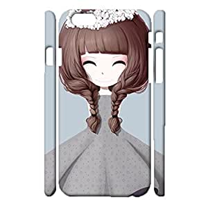Flower Girl Image Series Printed Phone Case Snap on iPhone 6/6s 4.7 (Inch),Exquisite Modish Durable 3D Hard Plastic Cover Fit iPhone 6/6s 4.7 (Inch)