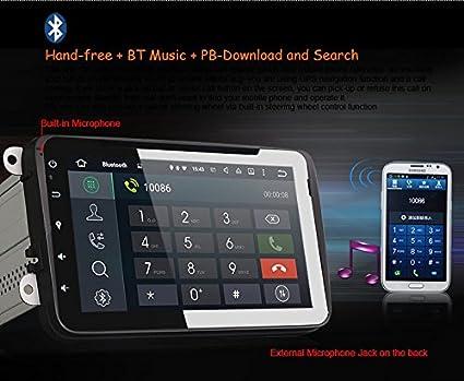 eunavi 2 DIN Android 5.1 8 pulgadas reproductor de radio de ...