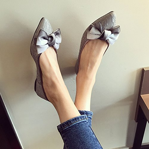 Knot Spring A Gray Shoes KPHY Six Butterfly Women'S Is Thirty Sweet 04Kqp