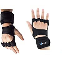 Hykes Gloves - Weight Lifting Hand Grips with Wrist Wrap Support Guard - Pull Up Bar,Gym Workout, Hand Grips, Powerlifting, Crossfit, Fitness, Training Palm Protector - Men and Women